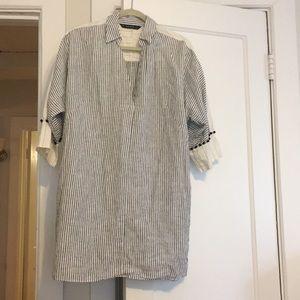 Zara striped dress/cover up NWOT